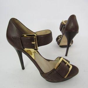 Michael Kors High Heels Sandals Pebbled Leather